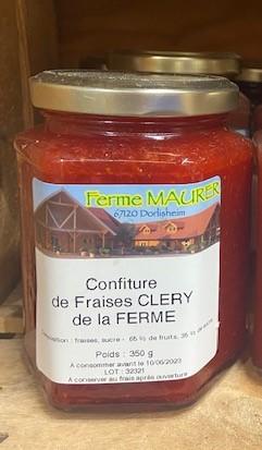 CONFITURE DE FRAISE CLERY DE LA FERME